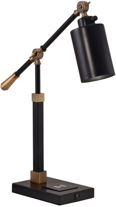 Springdale By Dale Tiffany Springdale 23In Cylinder Multi-Direction Desk Lamp With Wireless/Usb Charger