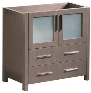 "Fresca Torino 30"" Single Bathroom Vanity Base Only Fresca Base Finish: Gray Oak"