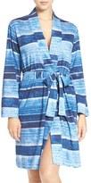 Lauren Ralph Lauren Stripe Cotton Blend Robe