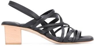 Del Carlo Multi-Strap Block Heel Sandals