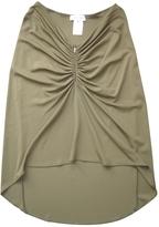 Celine Green Viscose Skirt