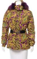 Etro Fur Trimmed Paisley Jacket