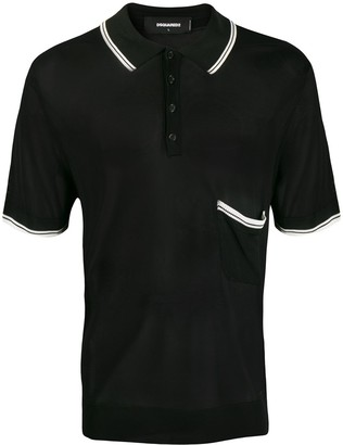 DSQUARED2 Contrast Stripe Polo Shirt