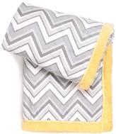 Tadpoles 30'' x 40'' Gray Chevron Plush Blanket