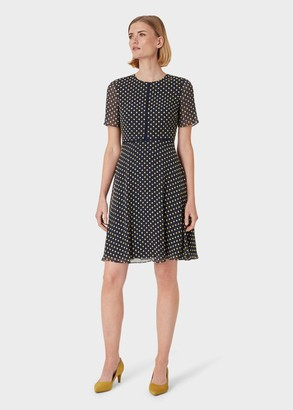 Hobbs Cecily Jacquard Dress