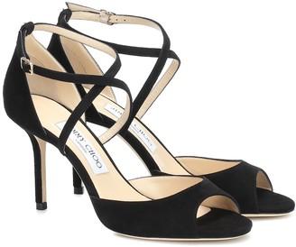 Jimmy Choo Emsy 85 suede sandals