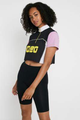 Urban Outfitters '90s Cropped Cycling T-Shirt - purple XS at