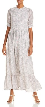 Notes du Nord Posh Floral Print Maxi Dress