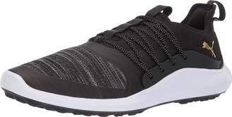 Puma Golf Men's Ignite Nxt Solelace Golf Shoe Black Team Gold 13 M US