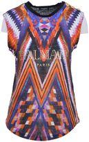 Balmain Multicolored Linen T-shirt