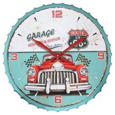 Infinity Instruments Route 66 Clock - Blue/ Red