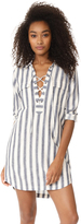 Madewell Lace Up Shirtdress