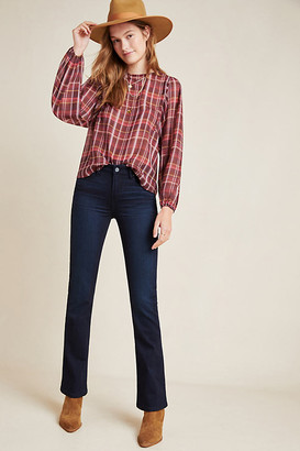 Paige Manhattan Mid-Rise Bootcut Jeans By in Blue Size 25
