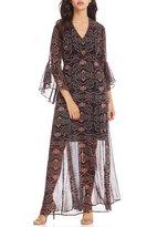 Gibson & Latimer Bell Sleeve Maxi Dress