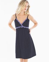Soma Intimates Belabumbum Cotton Nursing Sleep Chemise Black Dot