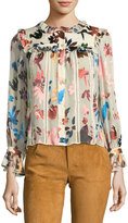 Alice + Olivia Malinda Button-Front Blouse