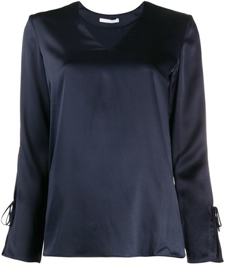 HUGO BOSS Long-Sleeve Fitted Blouse
