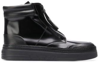Emporio Armani hi-top zipped sneakers