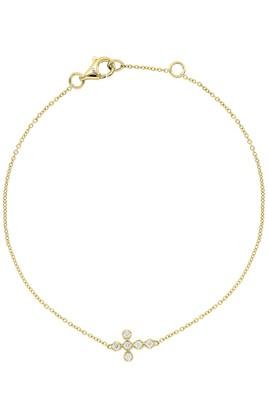 Bony Levy 18K Yellow Gold Diamond Cross Charm Bracelet - 0.06 ctw