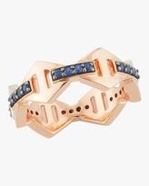 Walters Faith Keynes Blue Sapphire Hexagon Ring