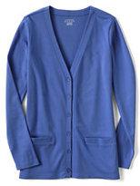 Lands' End Women's Regular Knit Dressing Cardigan-Blue Green Swirl