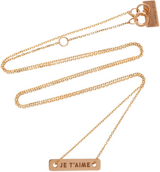 VANRYCKE Bonnie & Clyde 18K Rose Gold Necklace