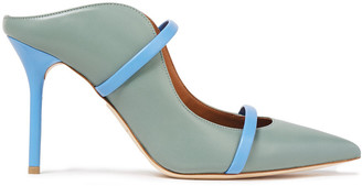Malone Souliers Maureen Two-tone Leather Mules