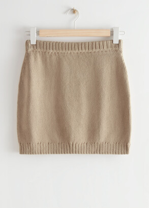 And other stories Knitted Mini Skirt