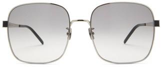 Saint Laurent Square Metal Sunglasses - Silver