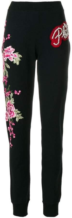 Philipp Plein flower patch sweatpants