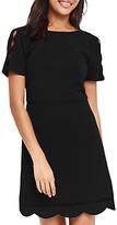 Oasis Long Length Scallop Sleeve Dress