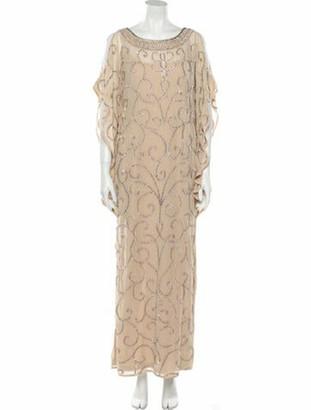 Aidan Mattox Printed Long Dress