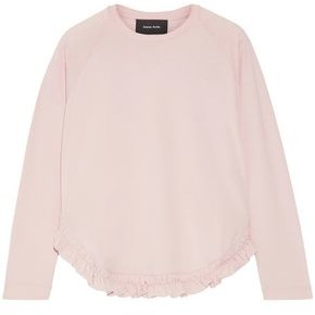 Simone Rocha Ruffle-trimmed Cotton-jersey Top