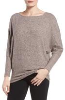 Gibson Petite Women's Dolman Sleeve Fleece Top
