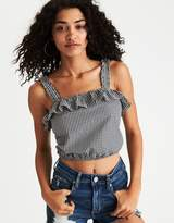 American Eagle Outfitters AE Ruffle Crop Tank