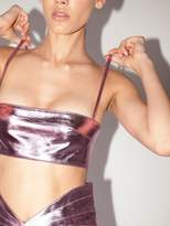 ATTICO The Lvr Exclusive Lame Leather Top