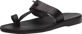 Jerusalem Sandals Nathan - Leather Slip On Sandal - Mens Sandals Brown