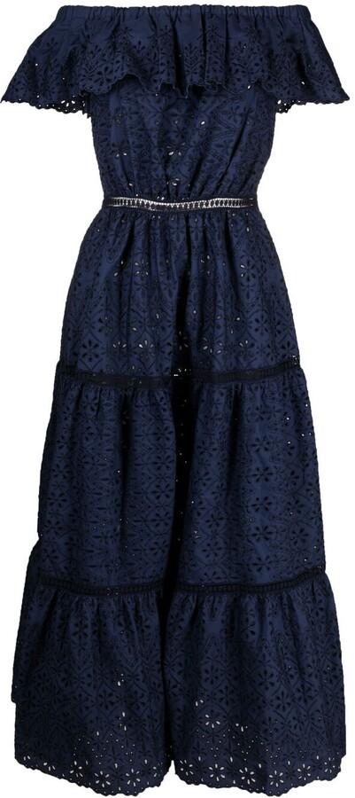 P.A.R.O.S.H. Sangallo tiered maxi dress
