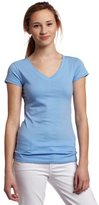 Southpole Juniors Basic Solid Color V-Neck Tee