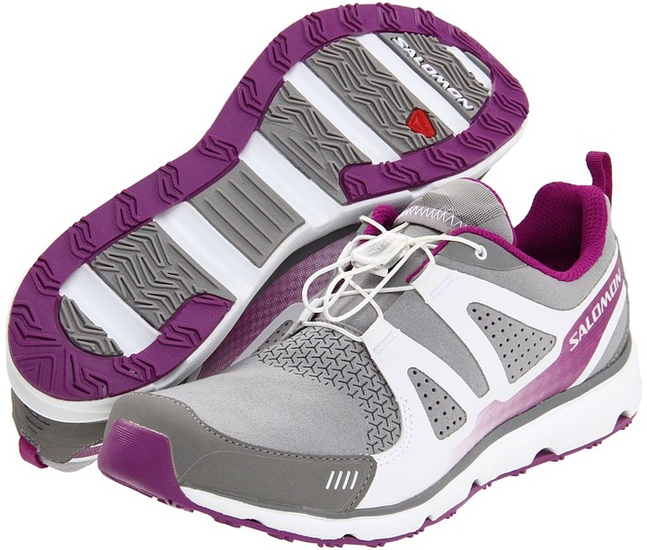 Salomon S-Wind Inca (Pewter/White/Very Purple) - Footwear