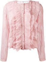Givenchy crepe ruffled blouse - women - Cotton/Polyester/Viscose - 36