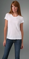 Short Sleeve Vintage Fitted Crew Neck Tee