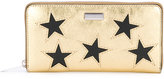 Stella McCartney metallic Stars zipped wallet - women - Polyester/Polyurethane - One Size