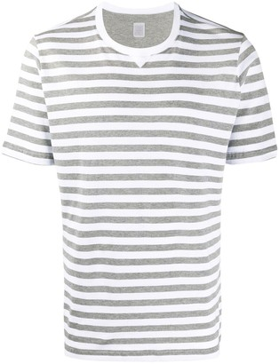 Eleventy stripe print T-shirt