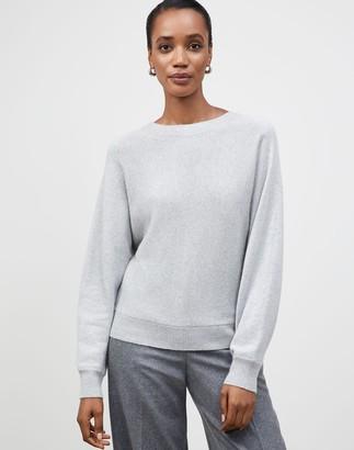 Lafayette 148 New York Plus-Size KindCashmere Chine Dolman Tie-Back Sweater