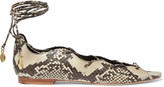 Sandro Lace-up elaphe flats