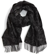 Hickey Freeman Men's Paisley Jacquard Cashmere Scarf