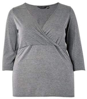 Dorothy Perkins Womens **Dp Curve Charcoal Wrap Top