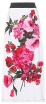 Dolce & Gabbana Printed Crêpe Midi Skirt