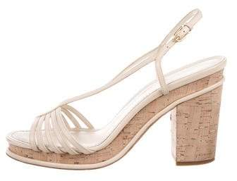 Chanel Leather Slingback Sandals